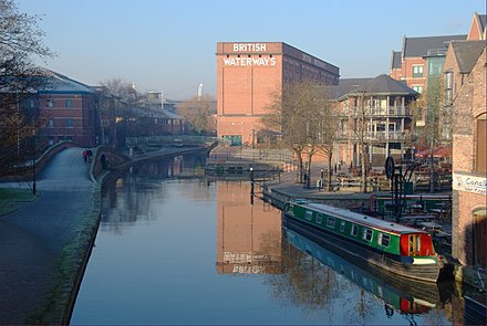 British Waterways building (formerly the Trent Navigation Company warehouse) on the Nottingham Canal Canalside Nottingham.jpg