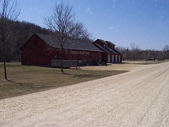 Cannon Valley Trail - Maintenance building at Welch
