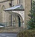 Canopy at entrance to former infirmary, Halifax Road, Dewsbury - geograph.org.uk - 632837.jpg