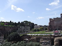 Canopy erected at the Temple of Venus and Rome during Good Friday ceremonies.JPG
