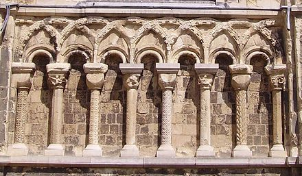 Norman Blind Arcading At Canterbury Cathedral