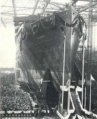 SS Cap Arcona - Launching of German ocean liner Cap Arcona, 14 May 1927.