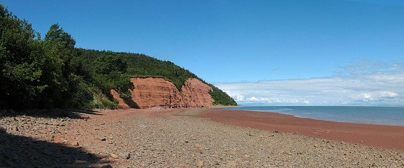 Cape Blomidon Beach on the Minas Basin, eastern Canada