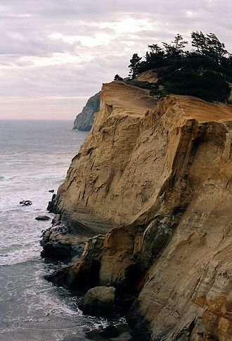 Pacific City, Oregon - The view from the trail on Cape Kiwanda