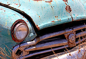 detail of old car