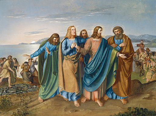 Carl Wilhelm Friedrich Oesterley dÄ Jesus am See Genezereth