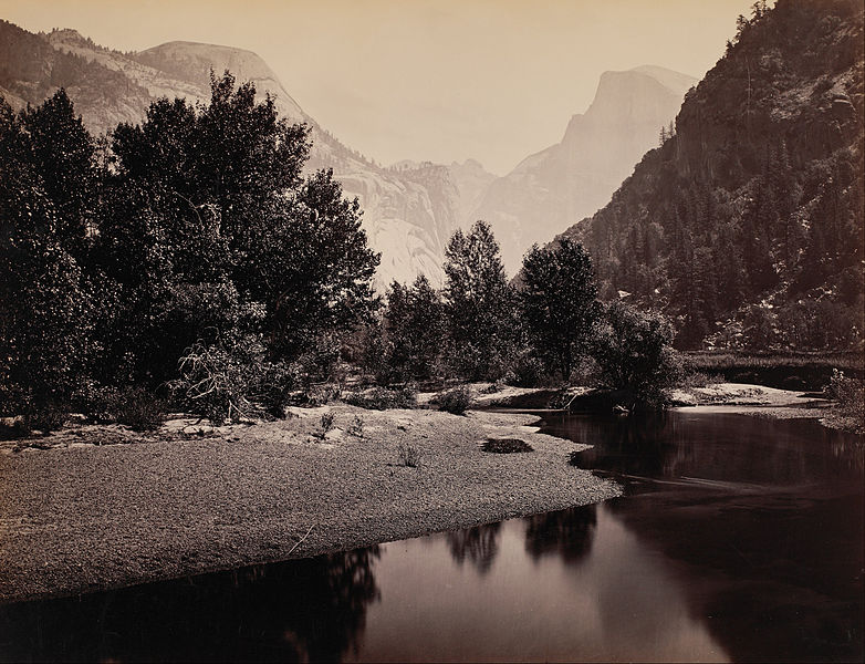 Carleton E. Watkins - Distant View of the Domes, Yosemite Valley, California, 1861/1871