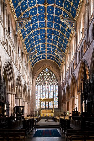 The nave of the Carlisle Cathedral, Cumbria, E...