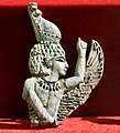 Carved ivory from Nimrud (Kalhu), winged Egyptian pharaoh, 9th to 7th century BCE. From Nimrud, Iraq. Iraq Museum.jpg