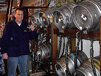 Cask ale - Cask ales on racks