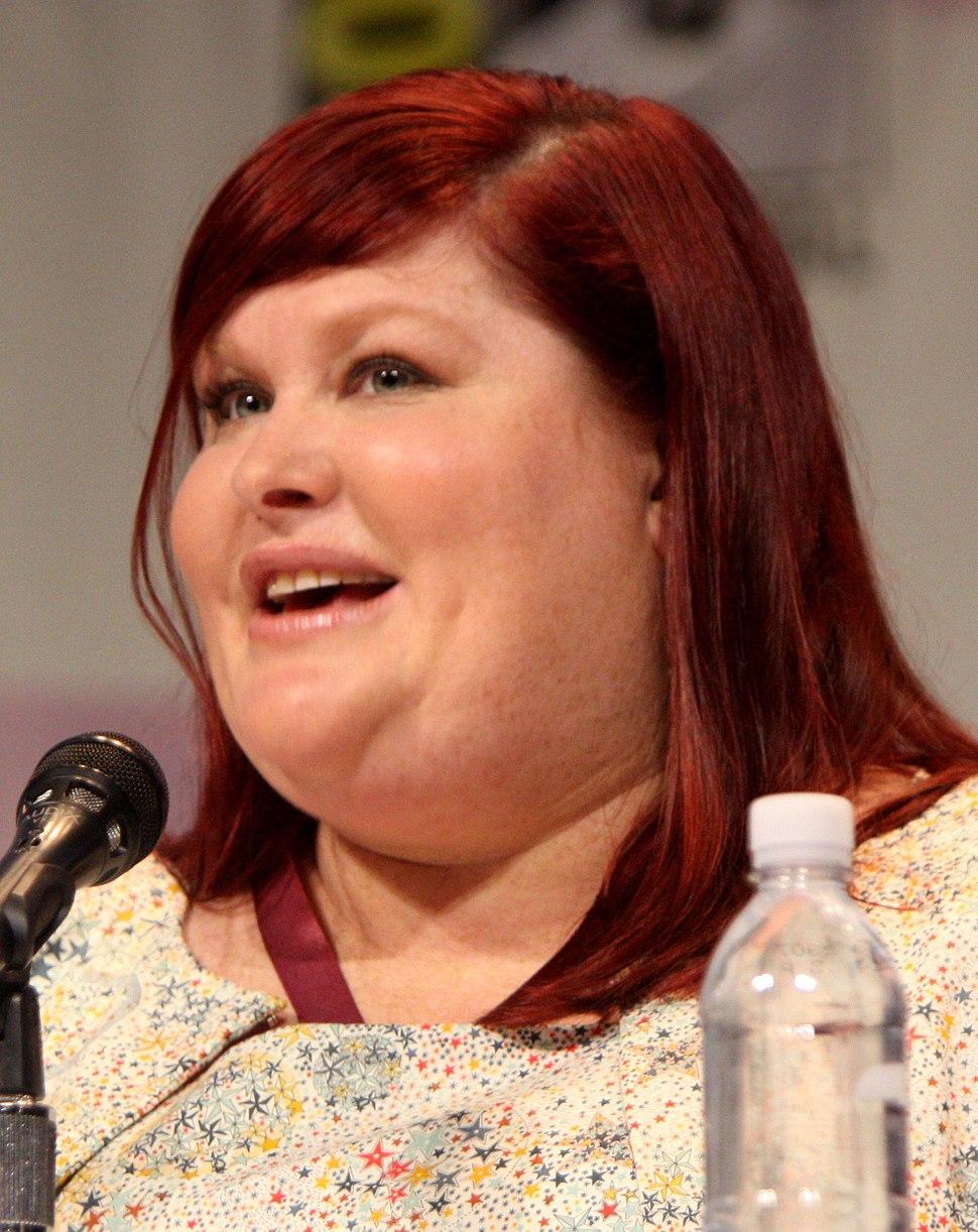 Clare speaking at the 2013 WonderCon at the Anaheim Convention Center, Anaheim, California