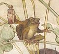 Castell Coch - allegorical wallpaper - detail of Quack Frog.jpg