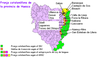 La Franja - Variations in the Catalan-speaking municipalities of Huesca