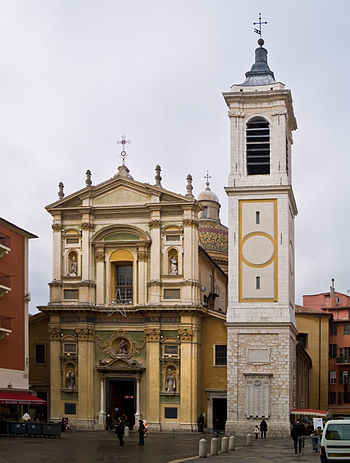 English: Nice Cathedral, dedicated to Saint Re...