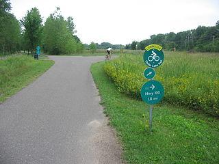 Cedar Lake Trail shared-use path in Minneapolis