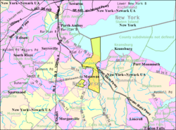 Census Bureau map of Aberdeen Township, New Jersey