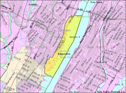 Census Bureau map of Edgewater, New Jersey