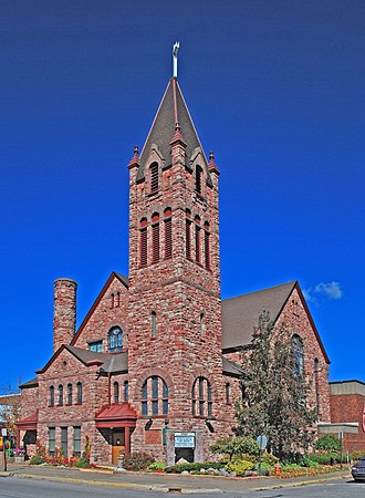 National Register of Historic Places listings in Chippewa County, Michigan - Image: Central Methodist Episcopal Sault Ste Marie MI