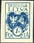 Central Lithuania 1920 MiNr 002B B002.png