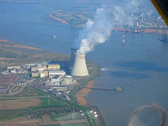 Doel Nuclear Power Station - Doel Nuclear Power Station from the south (2012)