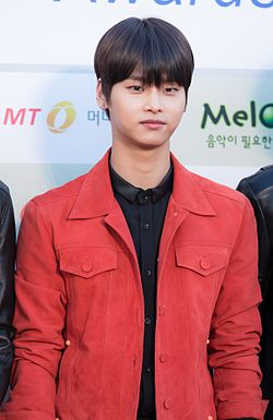 Cha Hak-yeon - 2016 Gaon Chart K-pop Awards red carpet 01.jpg