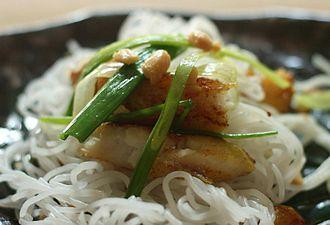 Vietnamese cuisine - Cha ca La Vong, a specialty of Hanoi.