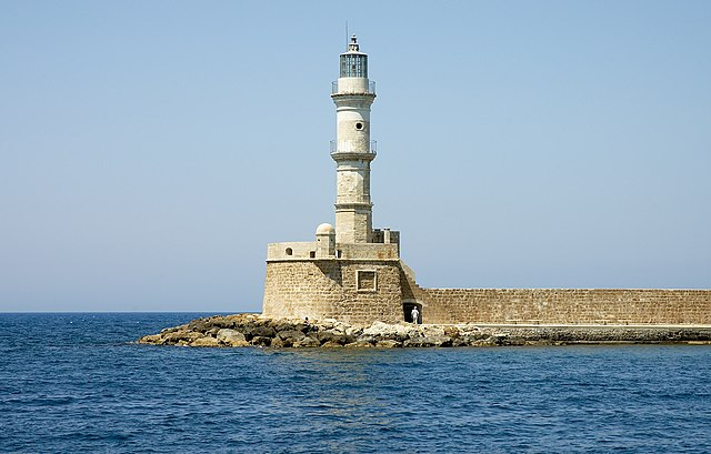 Chania Harbor Light