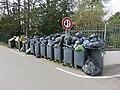 Charbonnières-les-Bains - Poubelles débordant de déchets (avr 2019).jpg