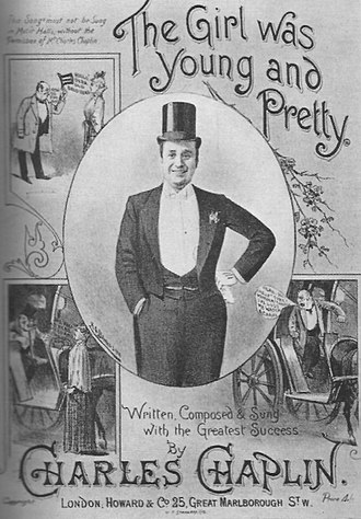 Charles Chaplin Sr. - Sheet music cover for one of Chaplin's popular songs