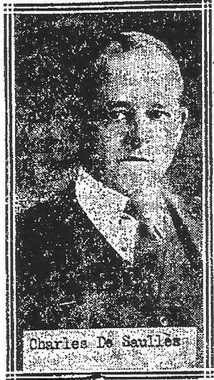 Charles de Saulles - Photograph of de Saulles from The Bridgeport Telegram, 1922