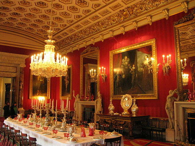 File chatsworth house dining wikipedia for Dining room d house of commons