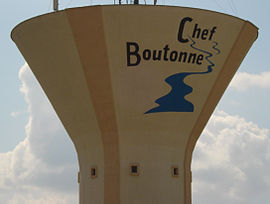 The water tower in Chef-Boutonne