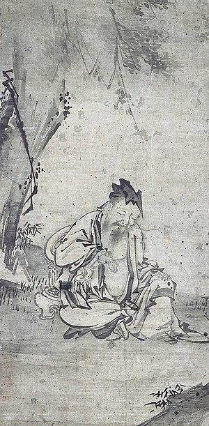 Chen Tuan - Chen Xi Yi Asleep by Hasegawa Tōhaku, Ishikawa Nanao Art Museum