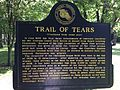Cherokee Heritage Center - Trail of Tears plaque-rear (2015-05-27 08.58.33 by Wesley Fryer).jpg