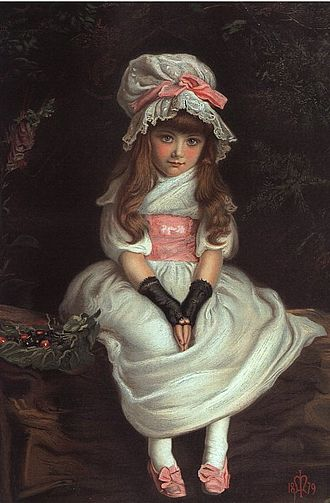 Cherry Ripe (song) - The Graphics chromolithograph of Cherry Ripe (1879) by John Everett Millais (1829–96)