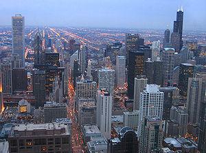 English: Downtown Chicago skyline (Aon Center ...