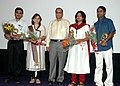 Chief Minister of Goa with the Director of the inaugural non feature film Bagher Bacha Shri Bishnu Halder and his crew members during their presentation on 24th November 2007 at iffi 2007, in Panaji, Goa.jpg