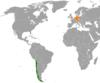 Lage von Deutschland und Chile