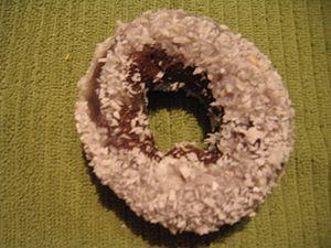 Coconut doughnut - Image: Chocolate white coconut,2011 11 28