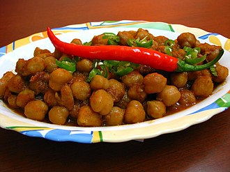 Chana masala - Made with the larger chickpeas