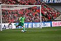 Chris Maxwell Wrexham FC at Wembley 2013 04.jpg