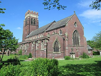 Fenton, Staffordshire - Image: Christ Church, Fenton, from south east