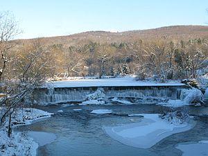Abercorn, Quebec - Waterfall in the village of Abercorn, Québec