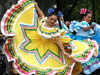 Dancers at the annual Cinco de Mayo Festival i...