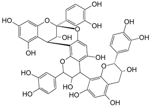 English: Chemical structure of cinnamtannin B1