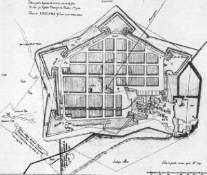 Città pentagonale -Copia del progetto di B.Buontalenti-