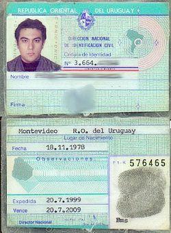 Cédula De Identidad De Uruguay Wikipedia La Enciclopedia Libre