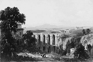 Civita Castellana and Mount Soracte, 1852