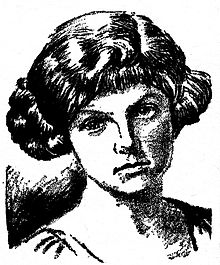 Clare Winger Harris, as pictured in the 1929 debut issue of Science Wonder Quarterly