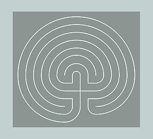 English: Classical Seven-Circuit Labyrinth